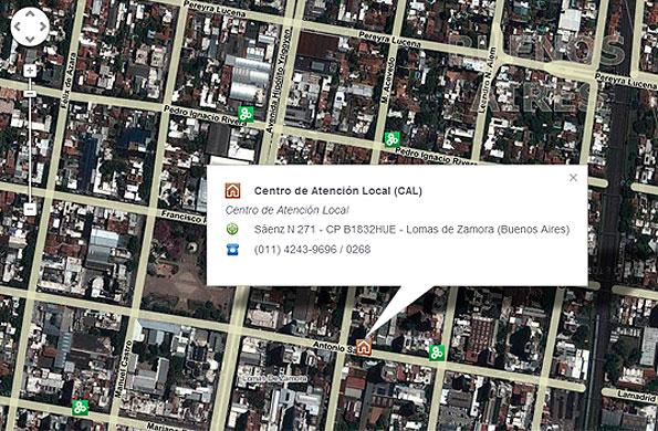 La aplicación incluye visualización satelital sobre imágenes de alta definición de Google Maps.
