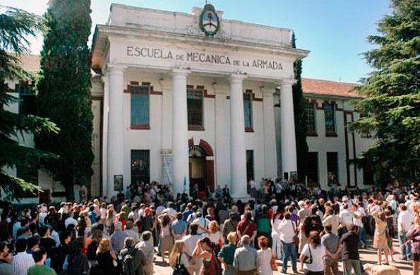 La ex Escuela Mecánica de la Armada, convertida hoy en un Espacio para la Memoria.