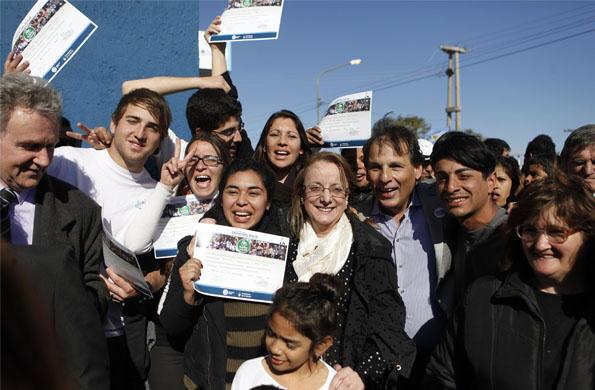 La ministra Alicia Kirchner inauguró un Centro Integrador Comunitario en San Luis.