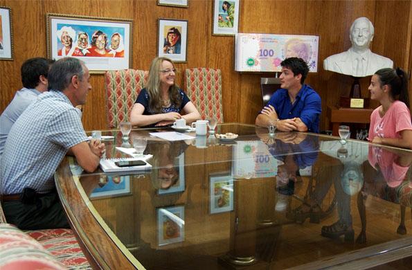 Durante el encuentro también estuvo presente el secretario de Deporte Claudio Morresi.