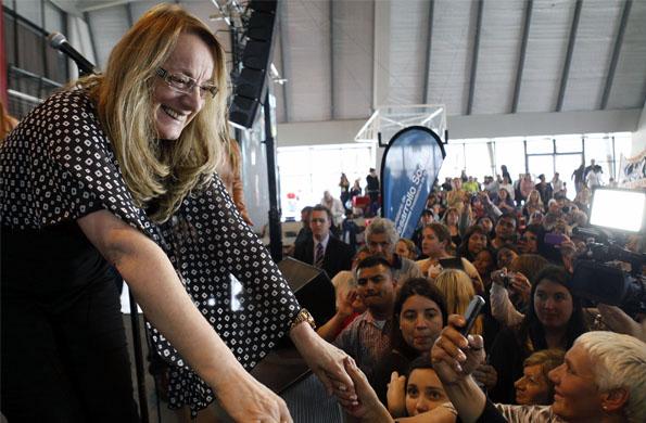 Alicia Kirchner participó de la actividad mediante una teleconferencia.