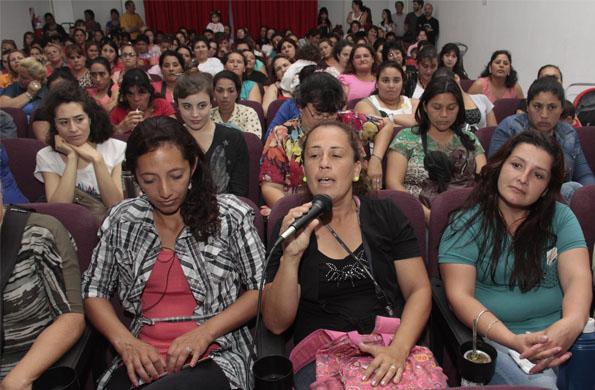 Las mujeres de Ellas Hacen participaron activamente una vez finalizadas las obras.