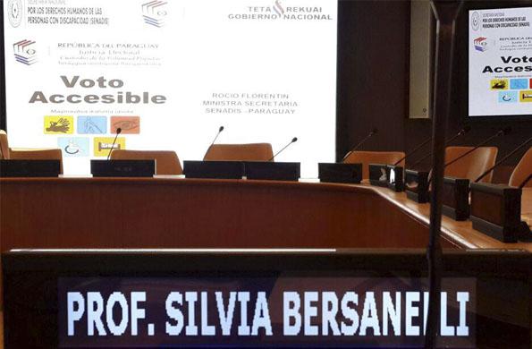 Se expuso sobre accesibilidad electoral para personas con discapacidad, legislación y avances.