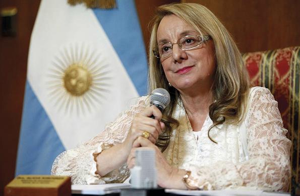 La ministra mantuvo hoy una teleconferencia con la Universidad de Morón.