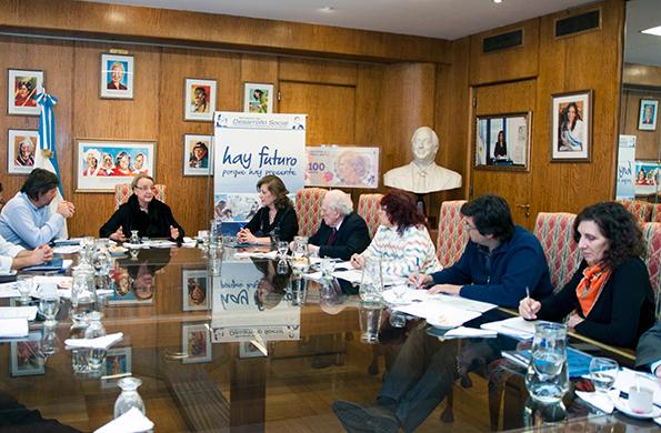El Comité Nacional del Programa Most-Unesco se reunió hoy en la sede de la cartera social.