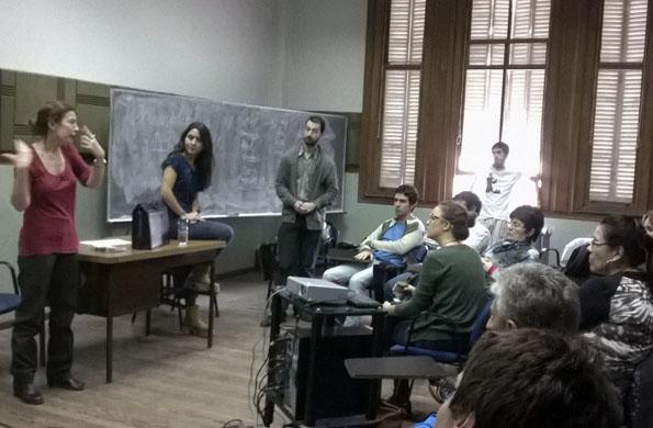 También se abordó la temática de discriminación con materiales audiovisuales.