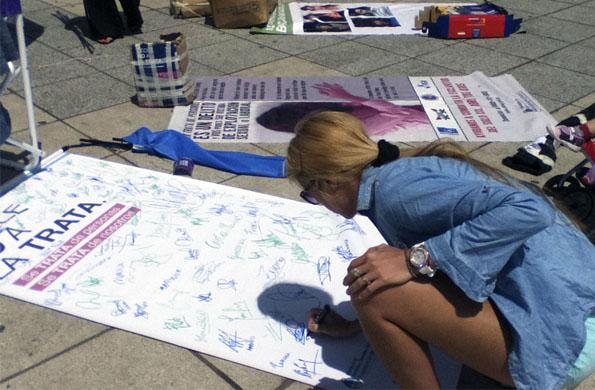 Más de mil personas se informaron acerca de la trata de personas en Mar del Plata.