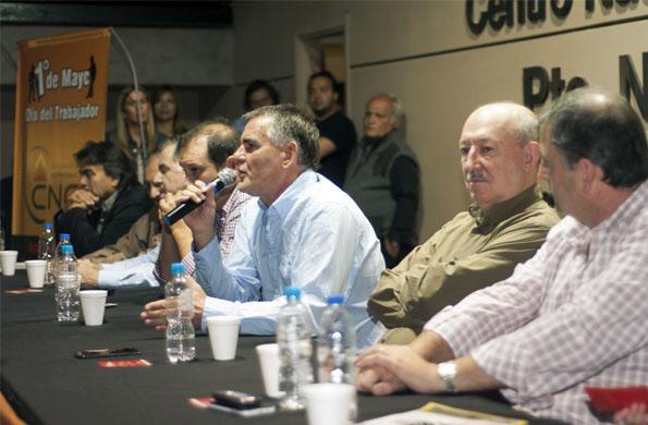 Carlos Castagneto destacó la importancia de celebrar el 1º de Mayo en el Ce.Re.Na.