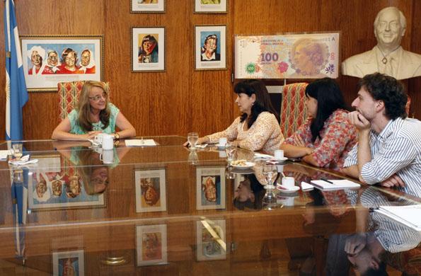 Durante la reunión, la ministra y Susana Trimarco planificaron acciones conjuntas contra la trata.