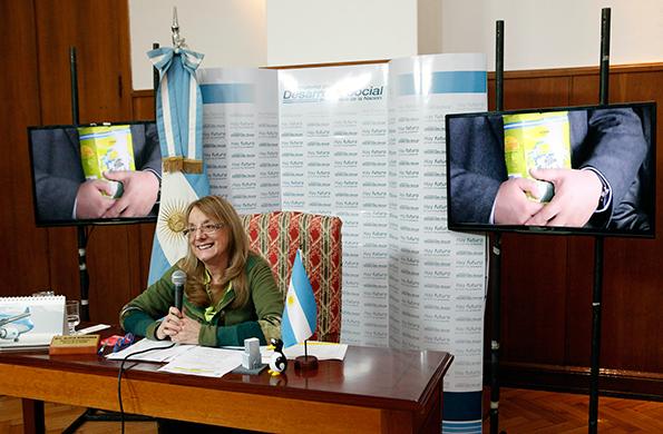 Imagen de Alicia Kirchner en teleconferencia