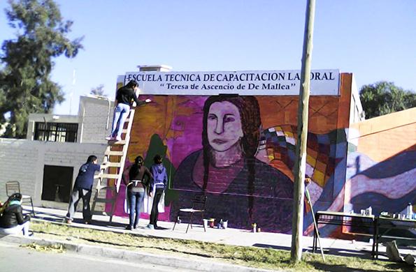 Se llevó a cabo una jornada de murales en las ciudades sanjuaninas de San Juan y Rawson.