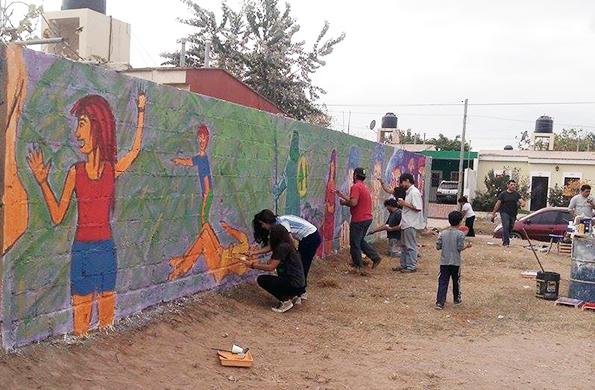 Se llevó a cabo una nueva jornada de murales en la capital riojana.