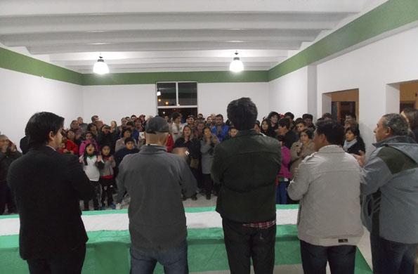 Durante la inauguración estuvieron presentes autoridades del club Santa Clara.
