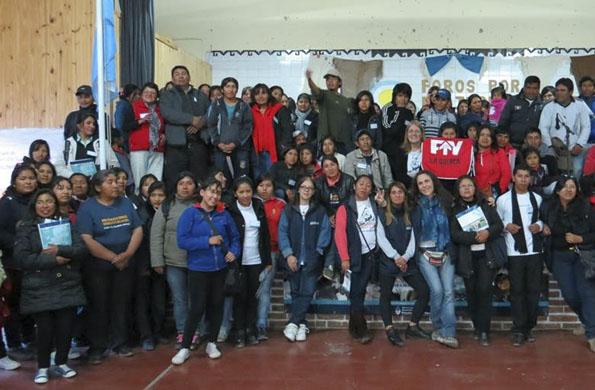 En la localidad de Abra Pampa, Jujuy también se realizó el foro el sábado pasado.