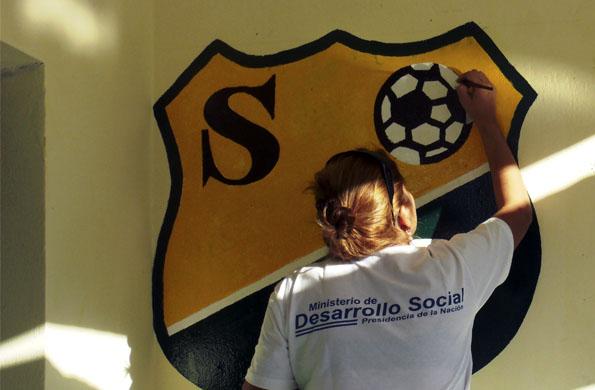 El Club Santa Rosa de Catamarca fue uno de las instituciones deportivas remodeladas.