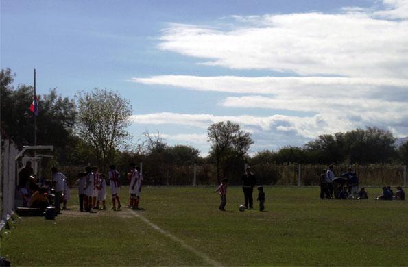 La jornada solidaria contó también con un partido de fútbol.