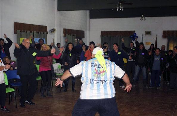 Pensionados de la localidad bonaerense de Moreno realizaron actividades recreativas.