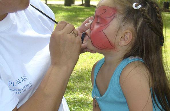 También hubo actividades recreativas para los más pequeños.