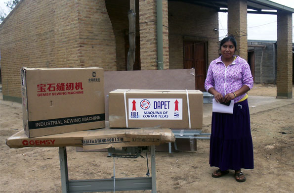 Entre el lunes y miércoles pasados de hizo entrega de herramientas a comunidades originarias.