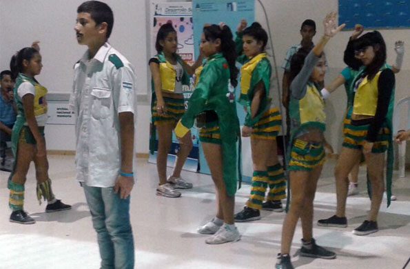 Participaron adolescentes que forman parte de proyectos socio-comunitarios.