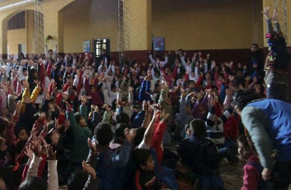 Las funciones se realizaron en distintas escuelas y en una bilbioteca.