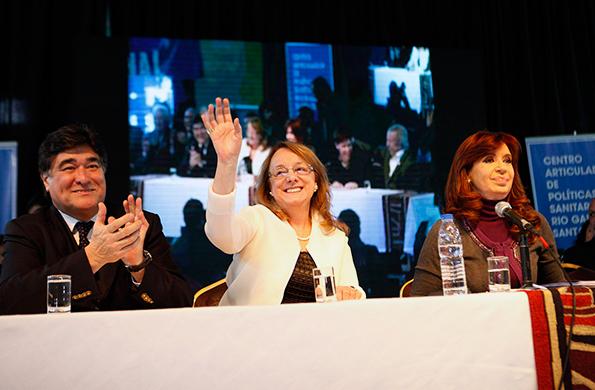Alicia Kirchner participó de la inauguración de un Centro de Articulación de Políticas Sanitarias.