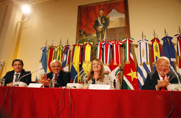 La ministra de Desarrollo Social, Alicia Kirchner, durante el congreso