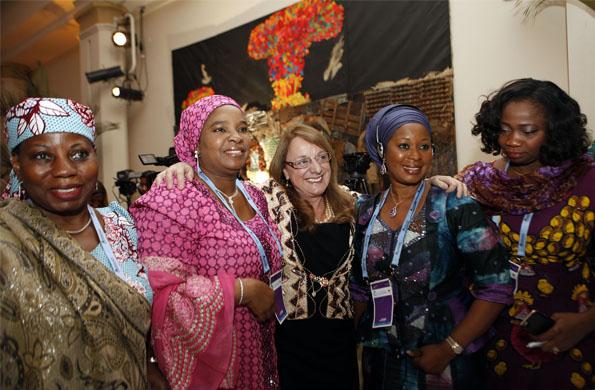 De la actividad participó la directora de ONU mujeres Phumzile Mlambo-Ngcuka.