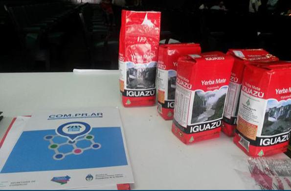 Se incluyó a la yerba mate Iguazú en tres supermercados de la Red Com.Pr.Ar.