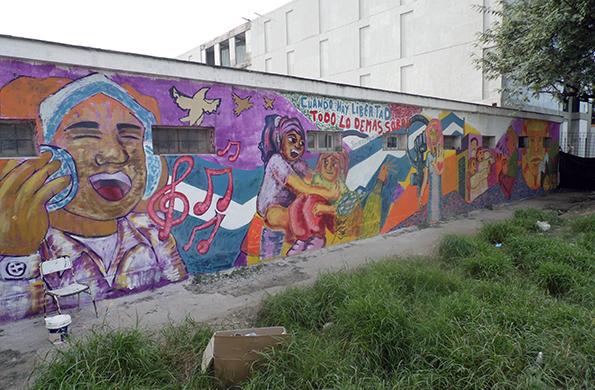 Se llevó a cabo una nueva jornada de murales colectivos en Santiago del Estero.