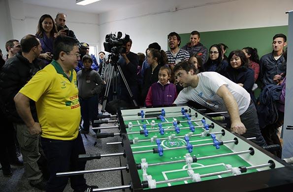 Del encuentro participaron representantes del fútbol de mesa de Bolivia, Perú Uruguay y Brasil.