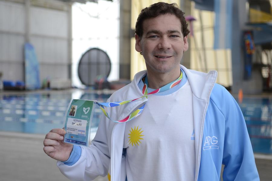 Hernán entrena cinco veces por semana y participa de los Juegos Mundiales para Trasplantados 2015.