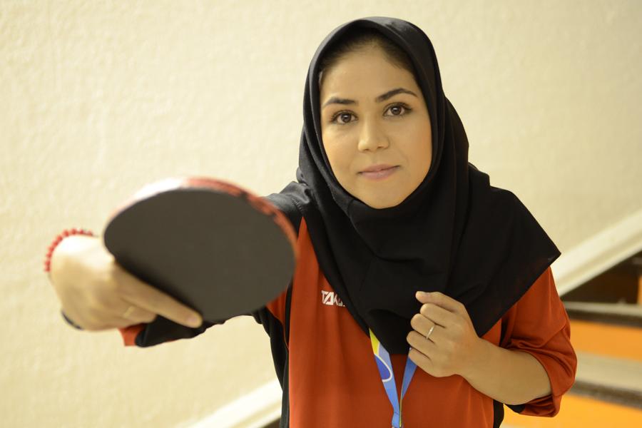 Bajore Pegui vive con su familia en Iran.