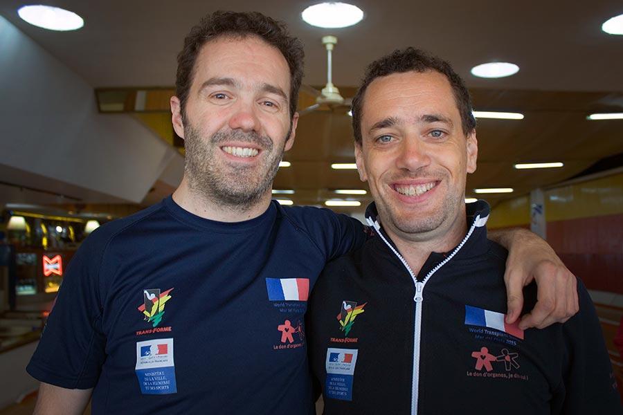 Fabián junto a Olivier, su compañero de la delegación francesa.