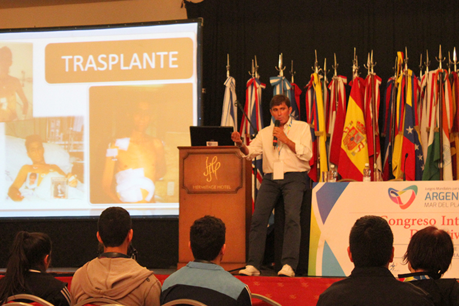 Sanz difunde que el deporte es un ámbito de mejoramiento y superación para la persona trasplantada.