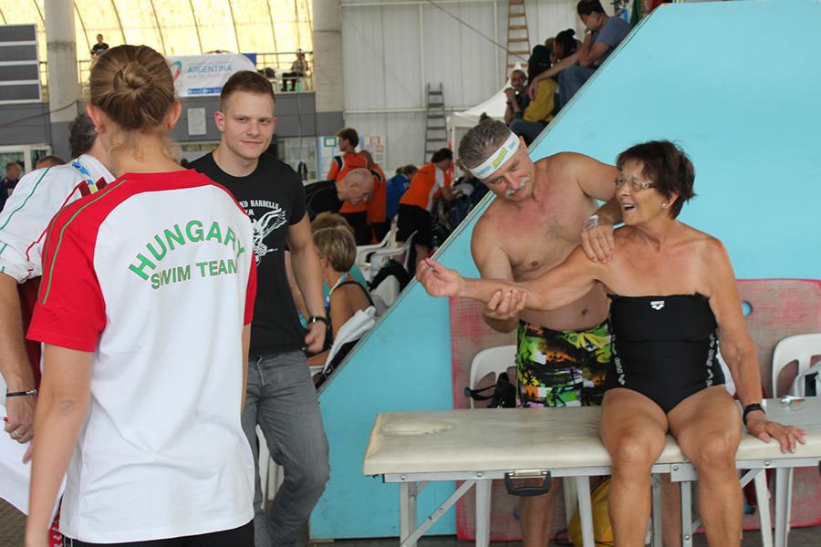 Rosaura Escudero, oro en los 200 metros libre.