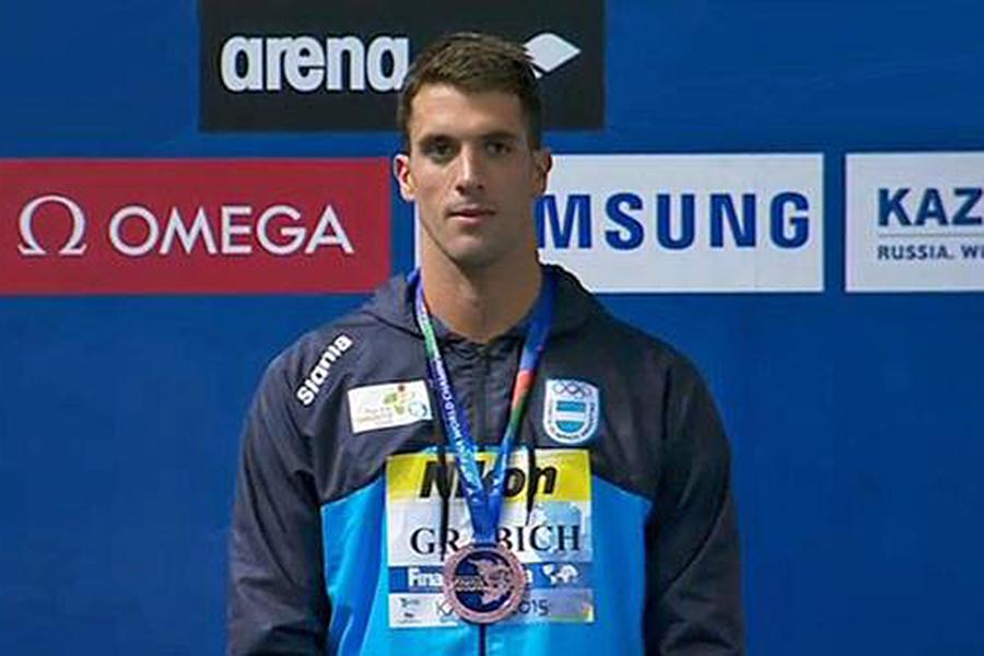 El nadador Federico Grabich obtuvo la medalla de bronce en el Mundial de Rusia.