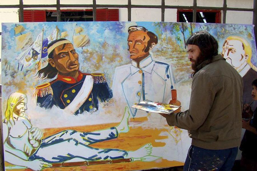 Muralistas participaron de una Cátedra Popular en Corrientes.