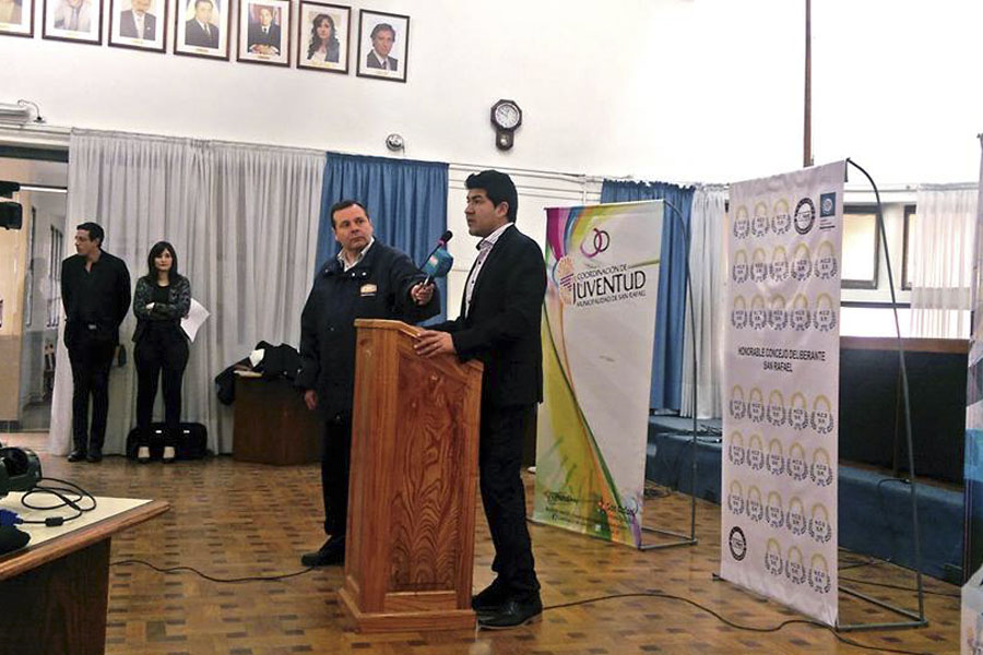 Fue ayer en la localidad mendocina de San Rafael y estuvo dirigido a concejales estudiantiles, docentes y autoridades