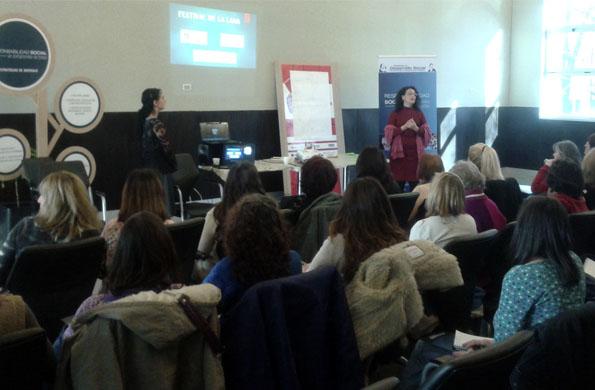 """La actividad fue el martes pasado en el auditorio de """"Cañitas: Industria creativa"""""""