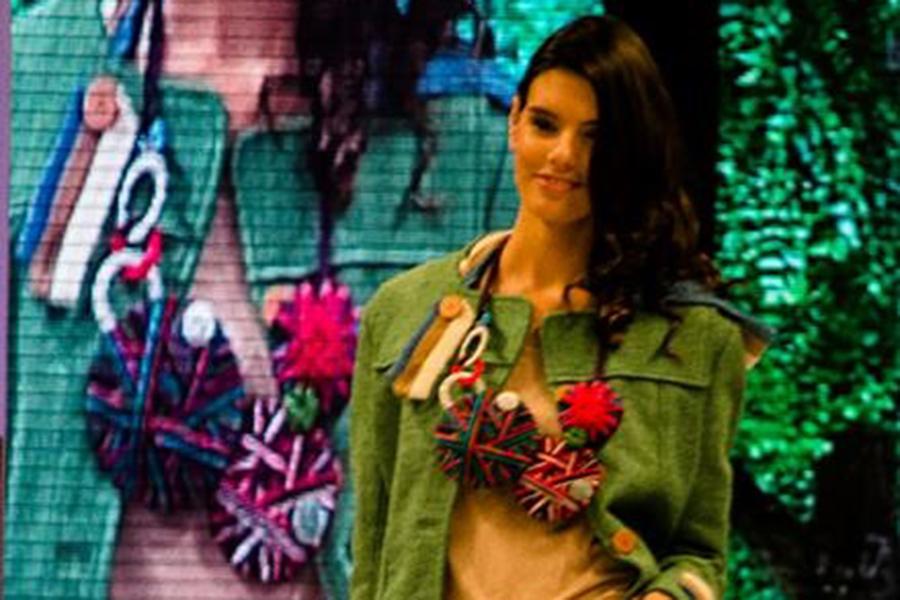La Fundación Ecomujeres exhibió su línea textil sustentable.