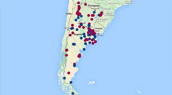 Ilustración de mapa interactivo