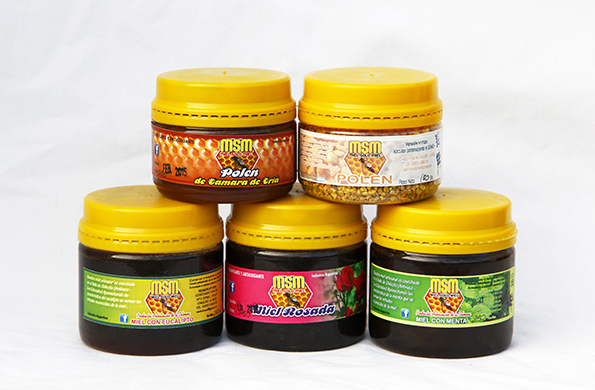 Las colmenas de MSM producen cerca de dos mil kilos de miel mensuales.