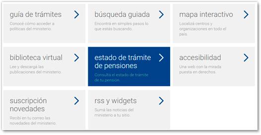 visualización de paso 1 de estado de trámite de pensión