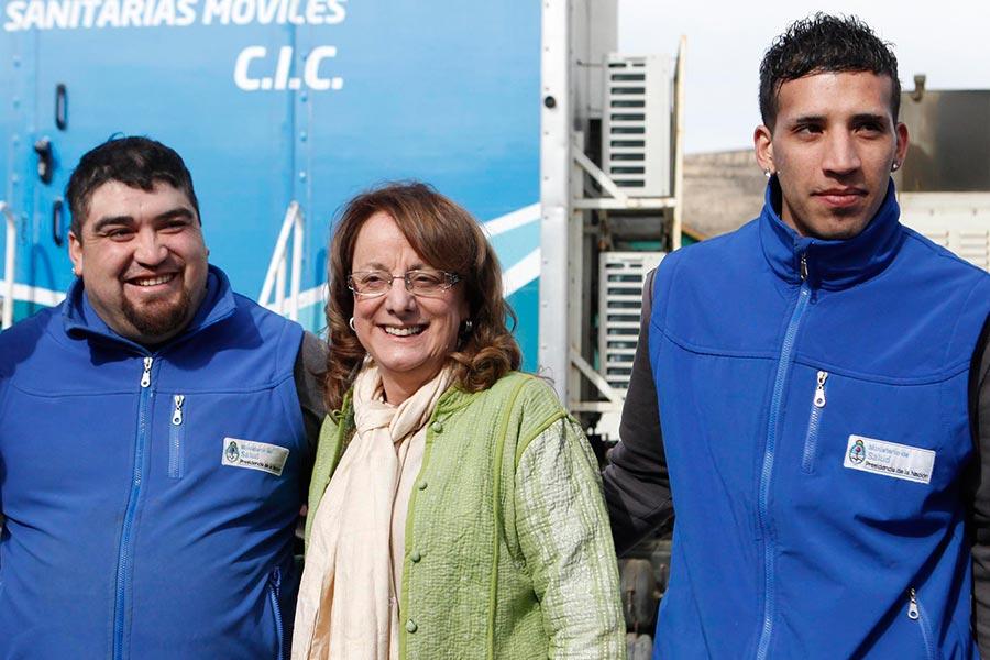 La ministra Alicia Kirchner visitó hoy el CIC de El Calafate.