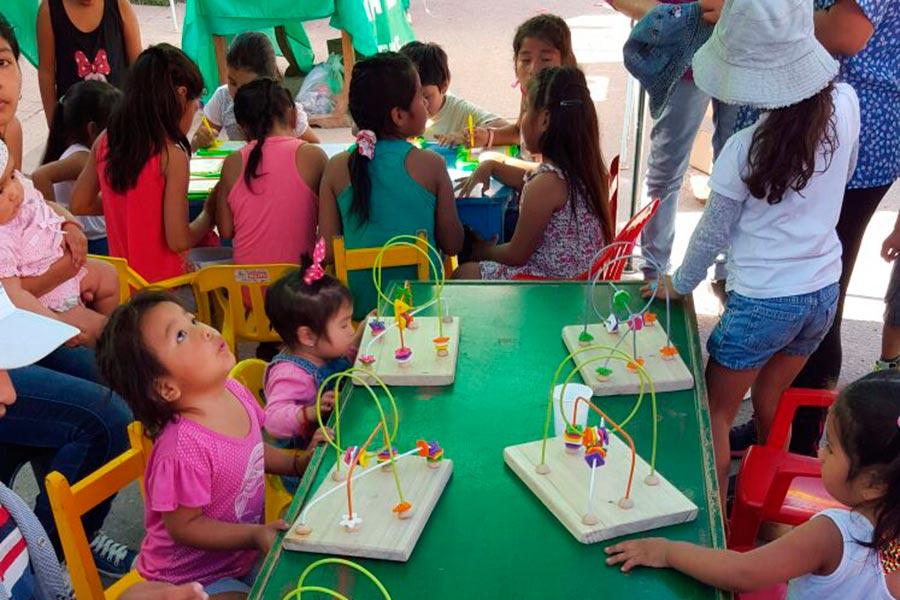 Más de 350 niños participaron de una jornada recreativa en Jujuy.