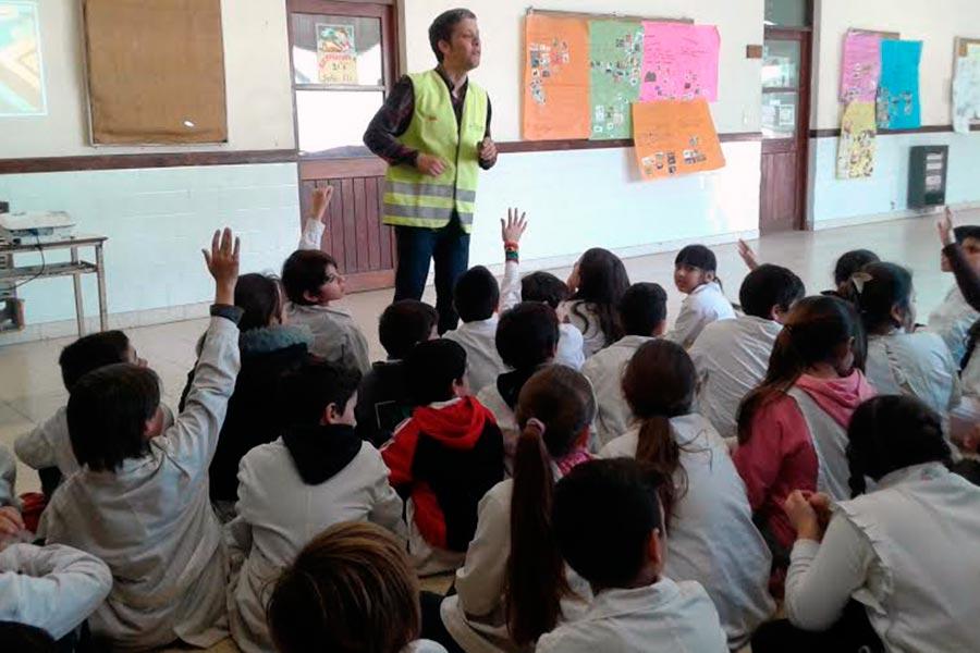 Los alumnos se capacitaron sobre la importancia de promover un tránsito seguro para la ciudad.
