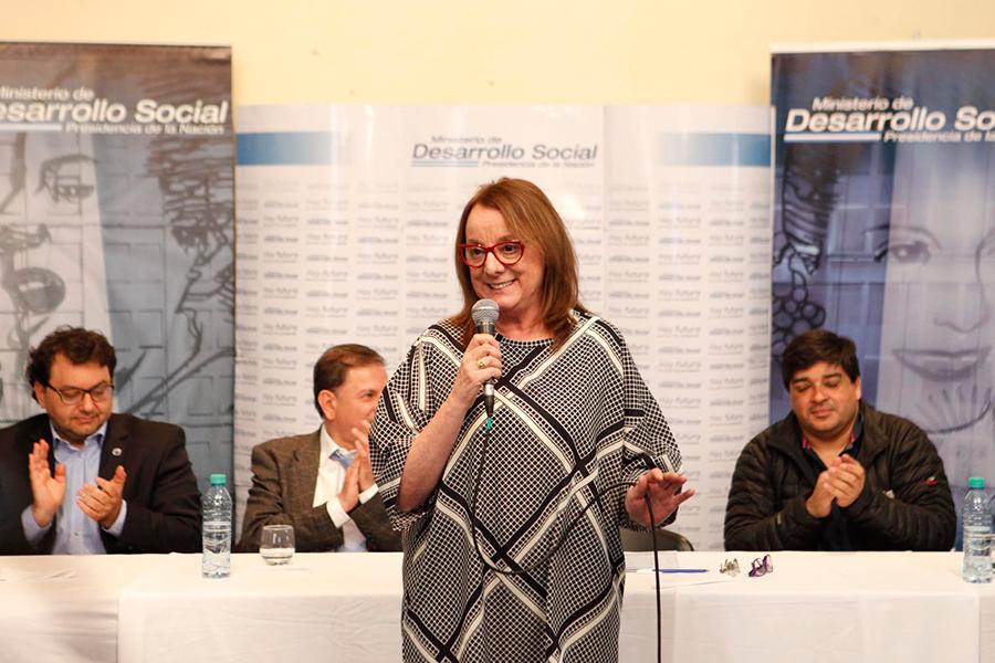 Alicia Kirchner durante su participación del encuentro de economía social.