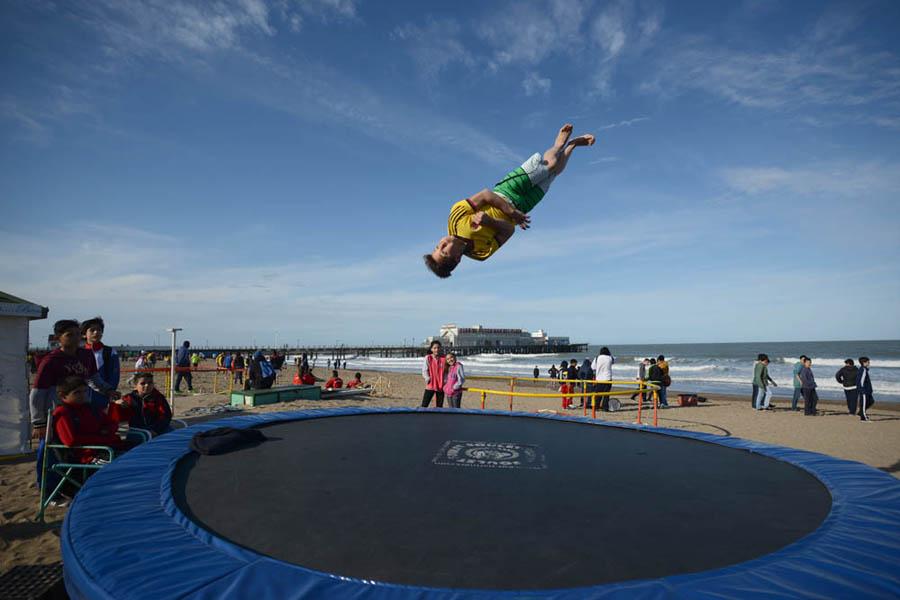 Durante los juegos los atletas participaron de actividades recreativas.
