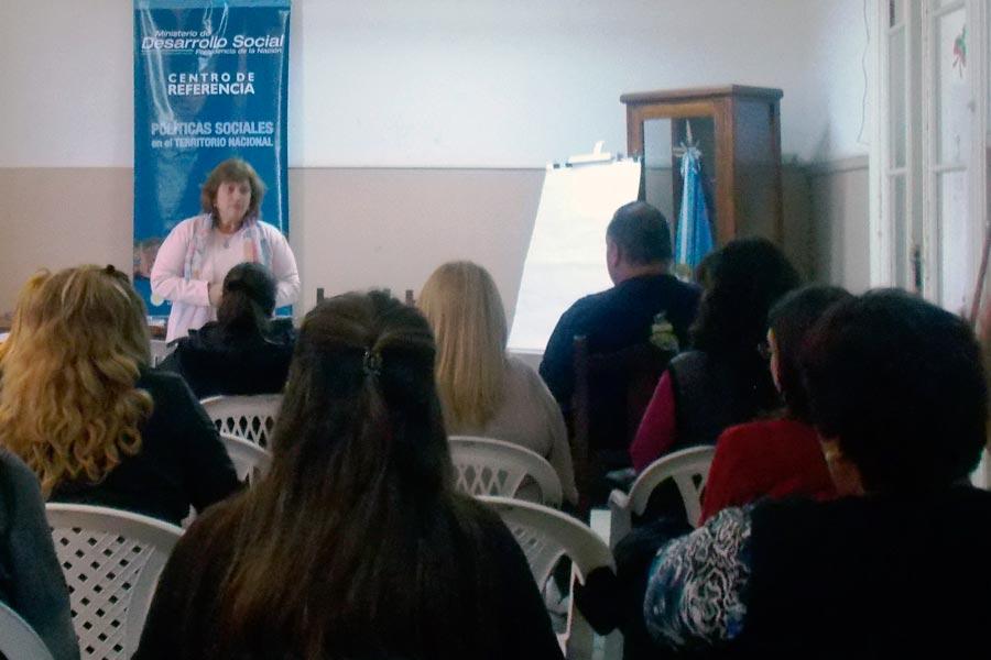 El curso de cuidadores domiciliarios fue en el Centro de Referencia de Mercedes, provincia de Buenos Aires.